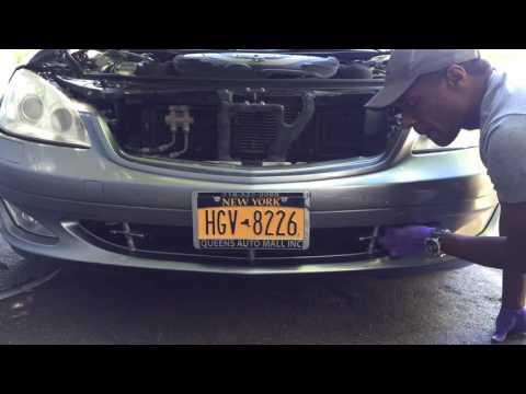 Mercedes S550 W221 Front Bumper removal, headlight removal, xenon ballast installation
