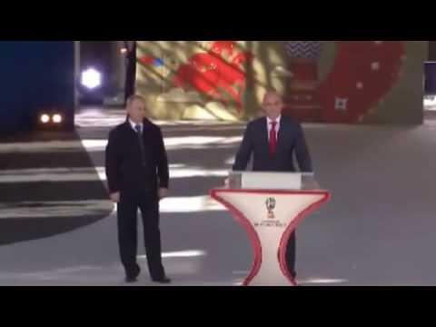 Watch Vladimir Putin and FIFA president Gianni Infantino launch 2018 World Cup volunteer campaign