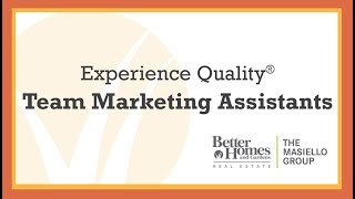 Experience Quality® - Team Marketing Assistants