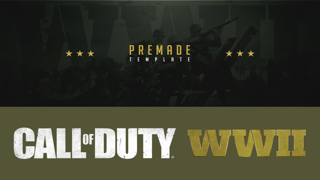 Call Of Duty WWII (Free Twitter Header Template) - YouTube