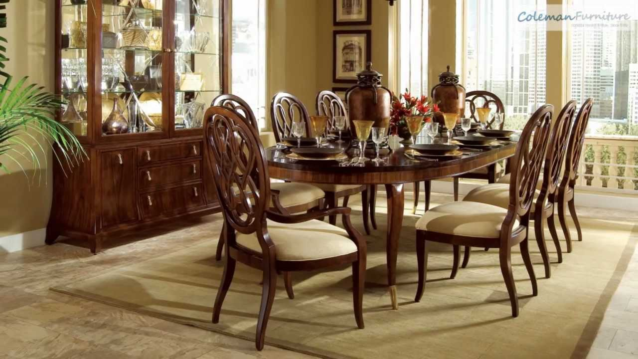 Bob Mackie Home Signature Oval Dining Room Collection From American Drew    YouTube