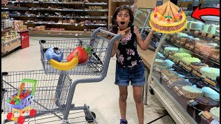 Deema Play Shopping for ice cream cake surprise!
