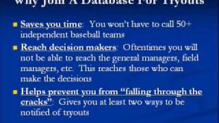 Independent Minor League Baseball Tryouts Database
