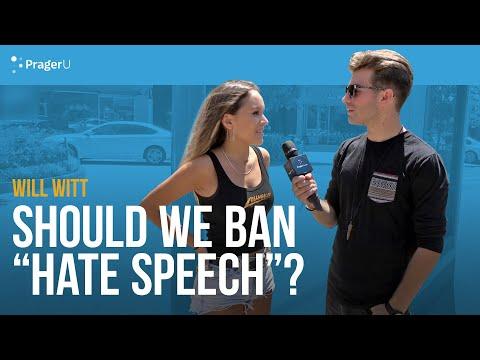 "Will Witt Asks if We Should We Ban ""Hate Speech"""