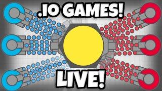 MG CLAN CRASHING .io SERVERS! - Come Play Diep.io Slither.io Agar.io LIVE With Me!
