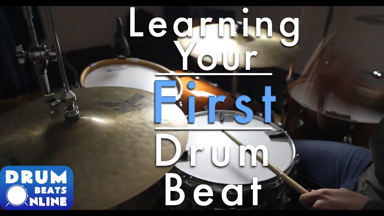 Learning Your First Drum Beat - Easy Beginner Drum Lesson   Drum Beats Online