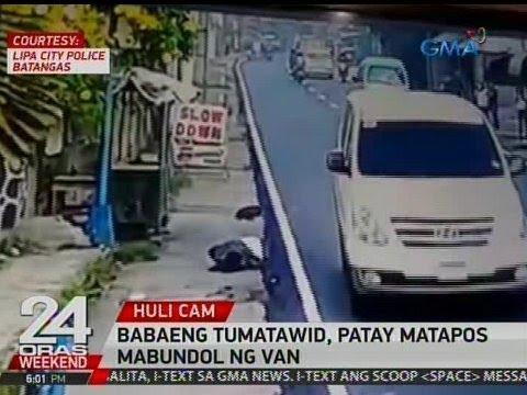 24 Oras: Babaeng tumatawid sa Batangas, patay matapos mabundol ng van