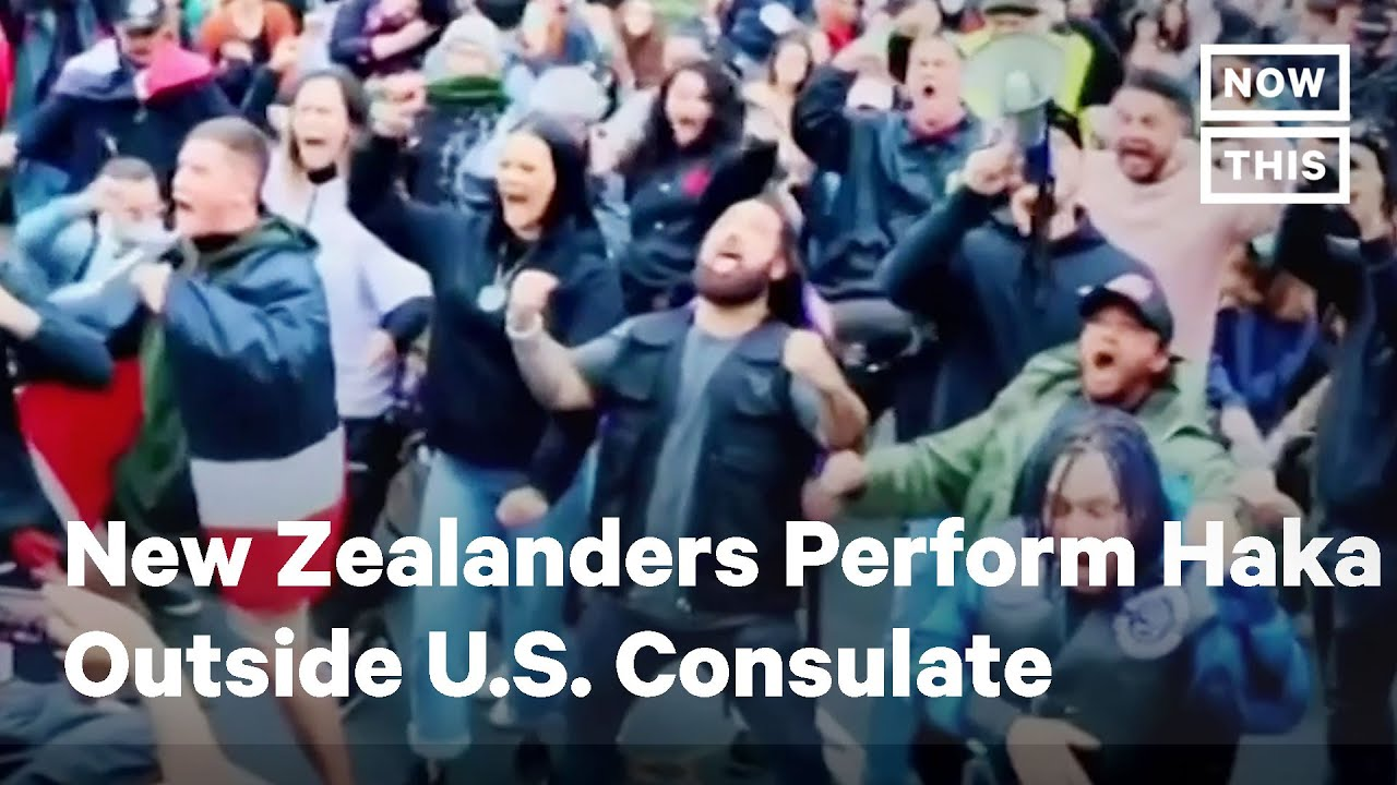 New Zealand Protesters Perform Haka Supporting Black Lives Matter | NowThis
