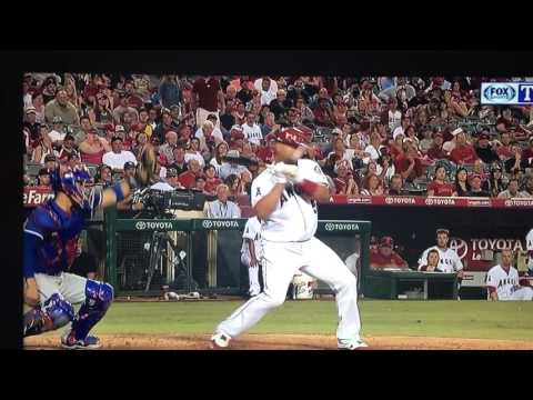 Albert Pujols hit in head by pitch 2016