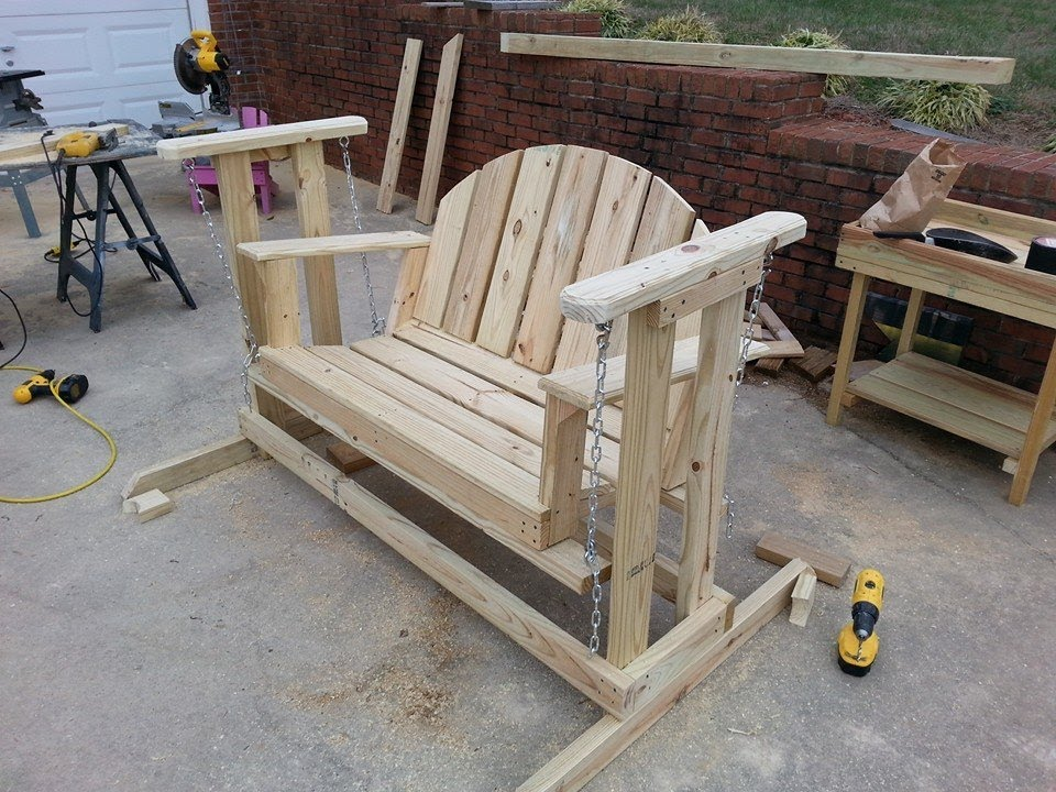 How to build a porch swing glider youtube for How to build a swing chair