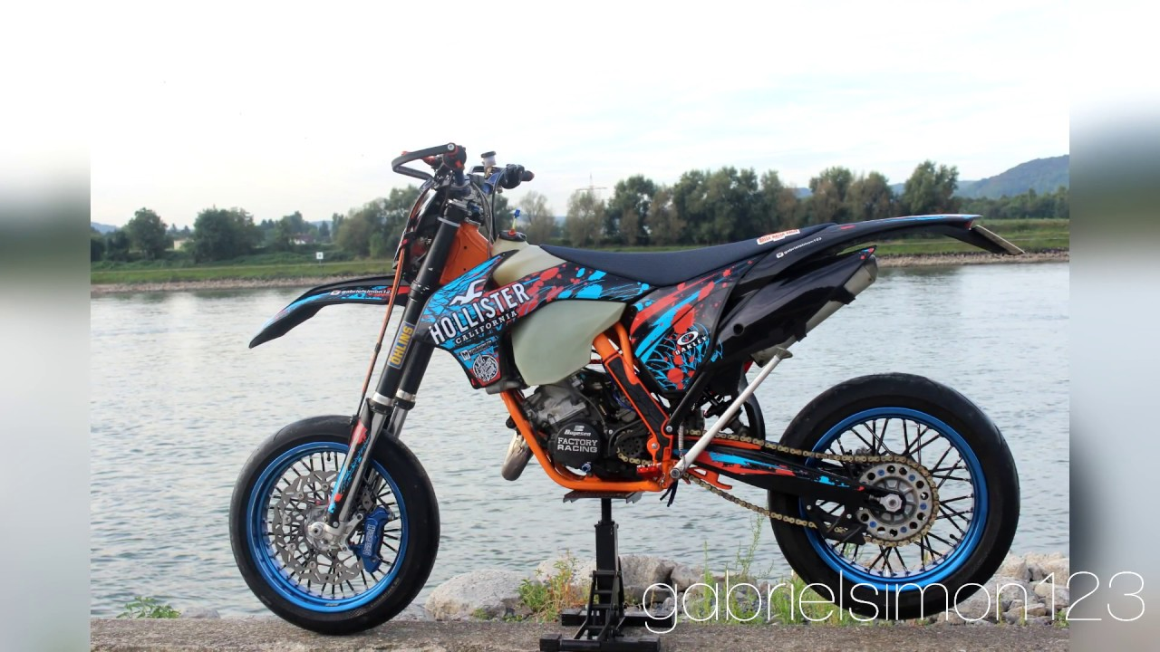 ktm exc 125 supermoto hollister tuningstory youtube