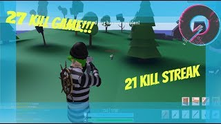 27 Kill game | 21 Kill Streak | STRUCID Roblox Gameplay