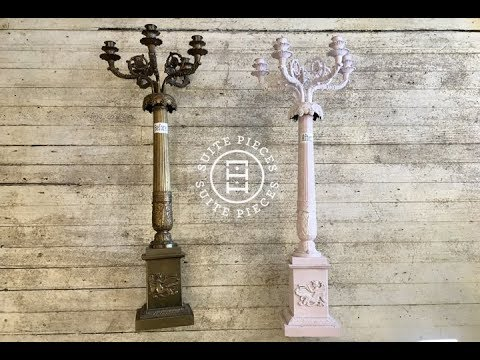 How To Paint Metal With Chalk Type Paint Youtube