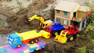 Cars for Kids | Excavator Dump Ttrck Road Roller Construcion Vehicles Toys For Kids