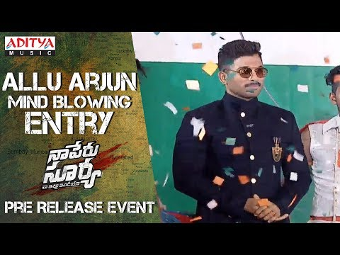 Allu Arjun Mind Blowing Entry @ Naa Peru...