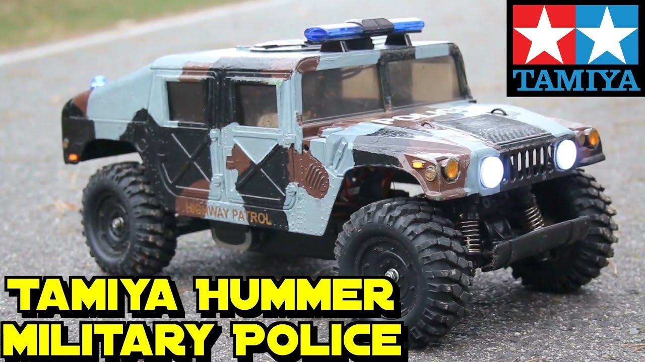 rc tamiya hummer humvee m1025 ta01 1 12 military police. Black Bedroom Furniture Sets. Home Design Ideas