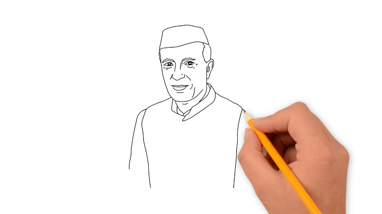 How to draw jawaharlal nehru jawaharlal nehru drawing drawing for kids nehru