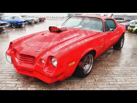 70's CHEVY CAMARO Z28 Second generation DRAG STYLE CUSTOM CAR RED - YouTube