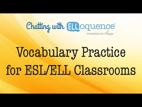 Vocabulary Practice for ESL/ELL Classrooms