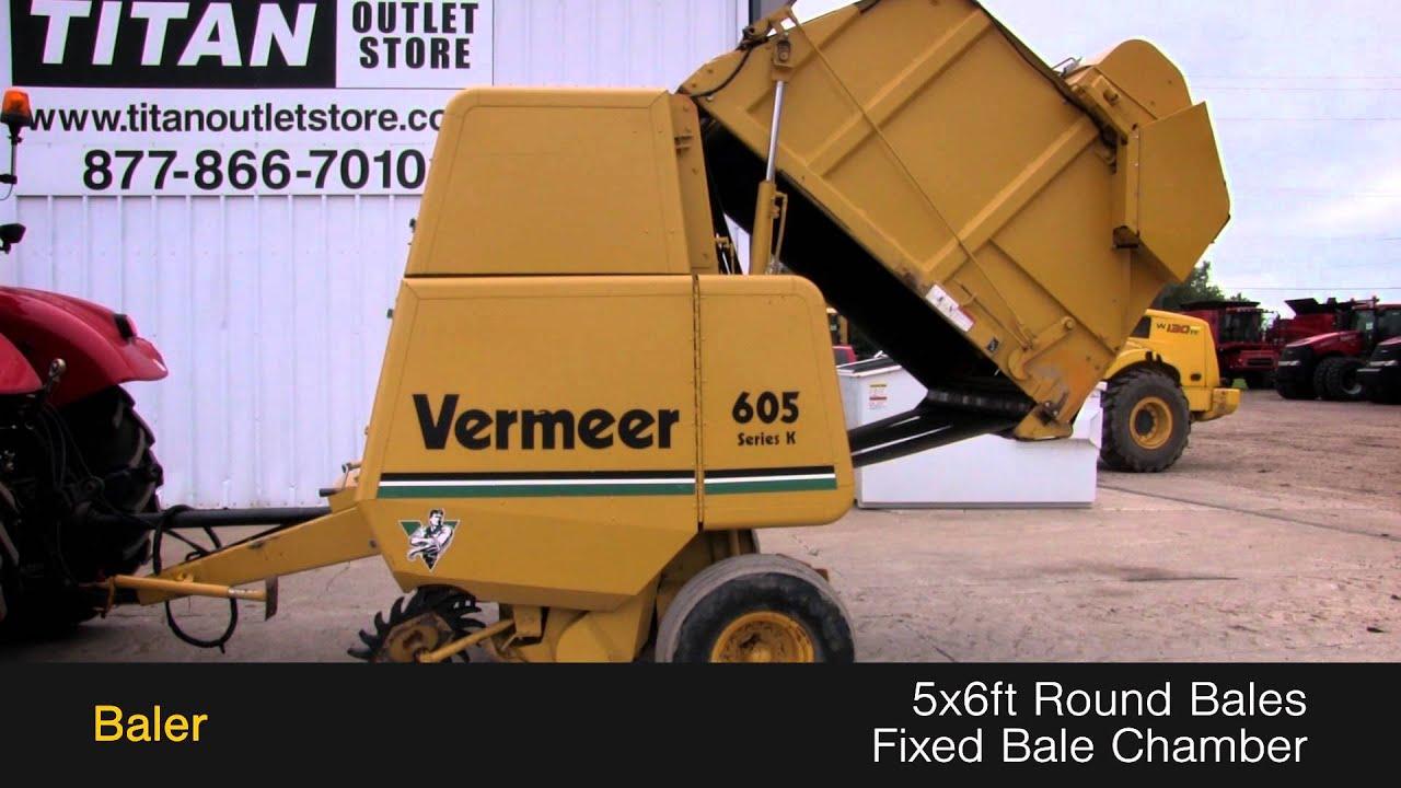 Vermeer 605k 540 pto netwrap sold on els