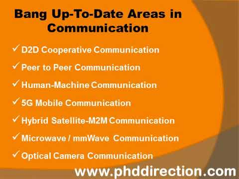 PhD Research Topics In Communication | PhD Research Thesis Topics In Communication