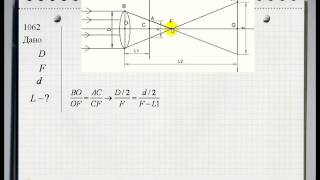Физика ГДЗ А.П. Рымкевич 10-11 класс. Линзы. Задача 1062
