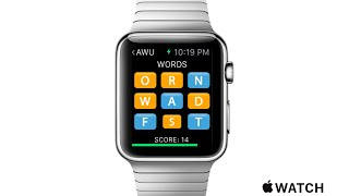 Boggle / Scramble like word game apps for the Apple Watch