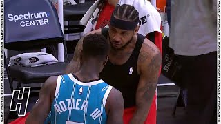 Terry Rozier Asks Carmelo Anthony For His Jersey After the Game -Blazers vs Hornets | April 18, 2021