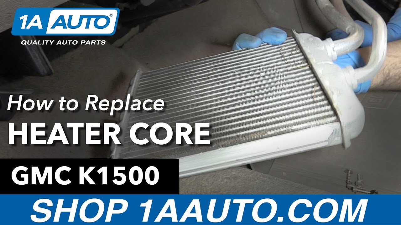 How to Replace Heater Core 9198 GMC K1500  YouTube