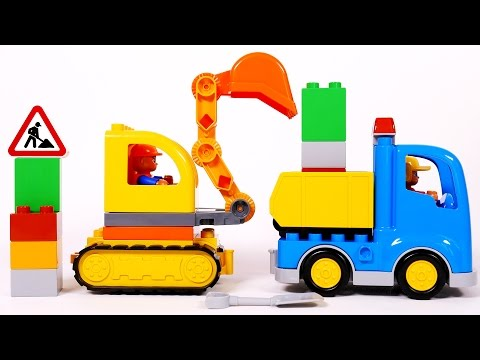 Thumbnail: Lego Dump Truck and Excavator Toy Playset for Children Lego Duplo