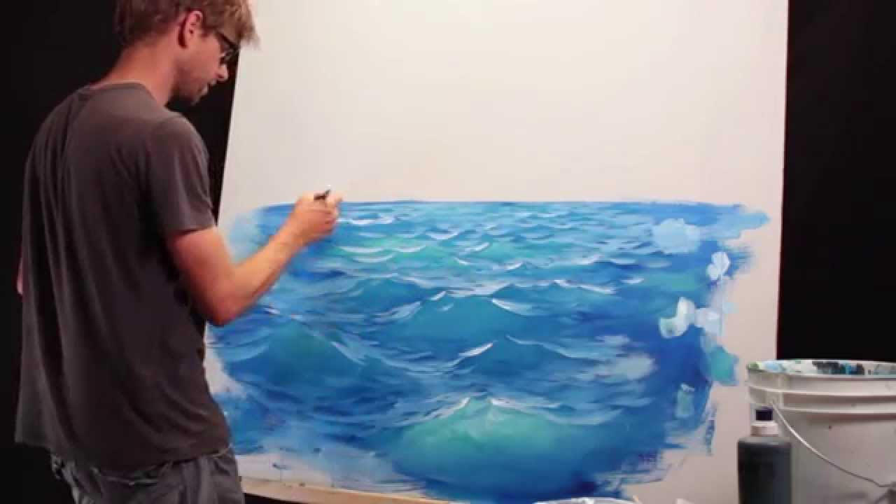 How To Paint Waves  Lesson 2  Adding Light  YouTube