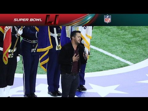 Luke Bryans Super Bowl LI National Anthem  NFL