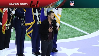 Luke Bryan's Super Bowl LI National Anthem | NFL