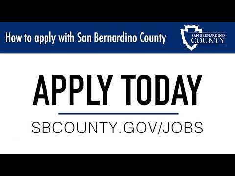 How To Apply With San Bernardino County