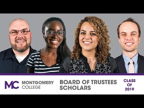 Montgomery College Highlights Four High Achieving Board of Trustees Scholars at 2019 Commencement
