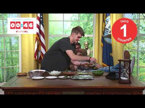 Register to vote in 1:34 while The Chainsmokers make tacos Thumbnail image
