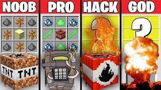 Minecraft Battle : EPIC TNT CRAFTING CHALLENGE - NOOB vs PRO vs HACKER vs GOD - Minecraft Animation