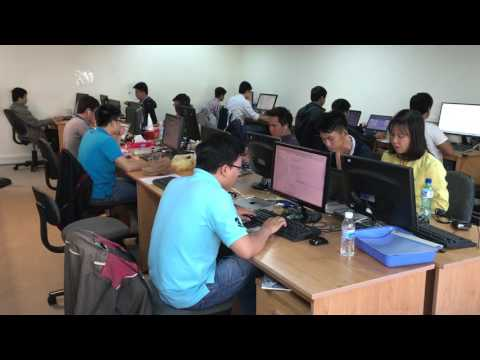 Software company - Software developers are working