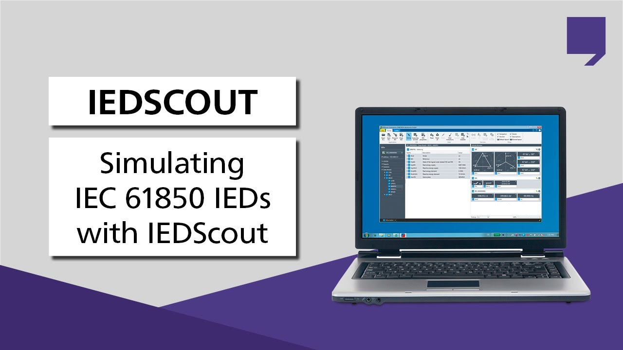 Simulating IEC 61850 IEDs with IEDScout