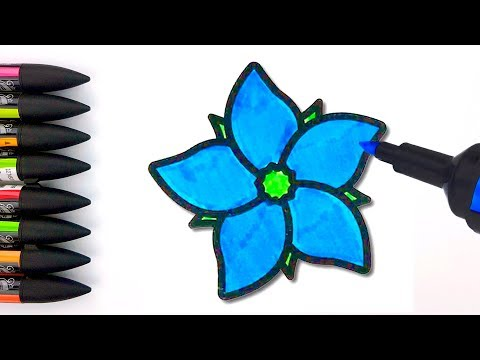 how-to-draw-flowers-coloring-pages-for-kids---drawing-for-children