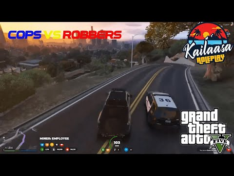 Evading COPS From The BANK ROBBERY   GTA V ROLEPLAY KAILAASA SERVER   Thanks For The 3k Subs!