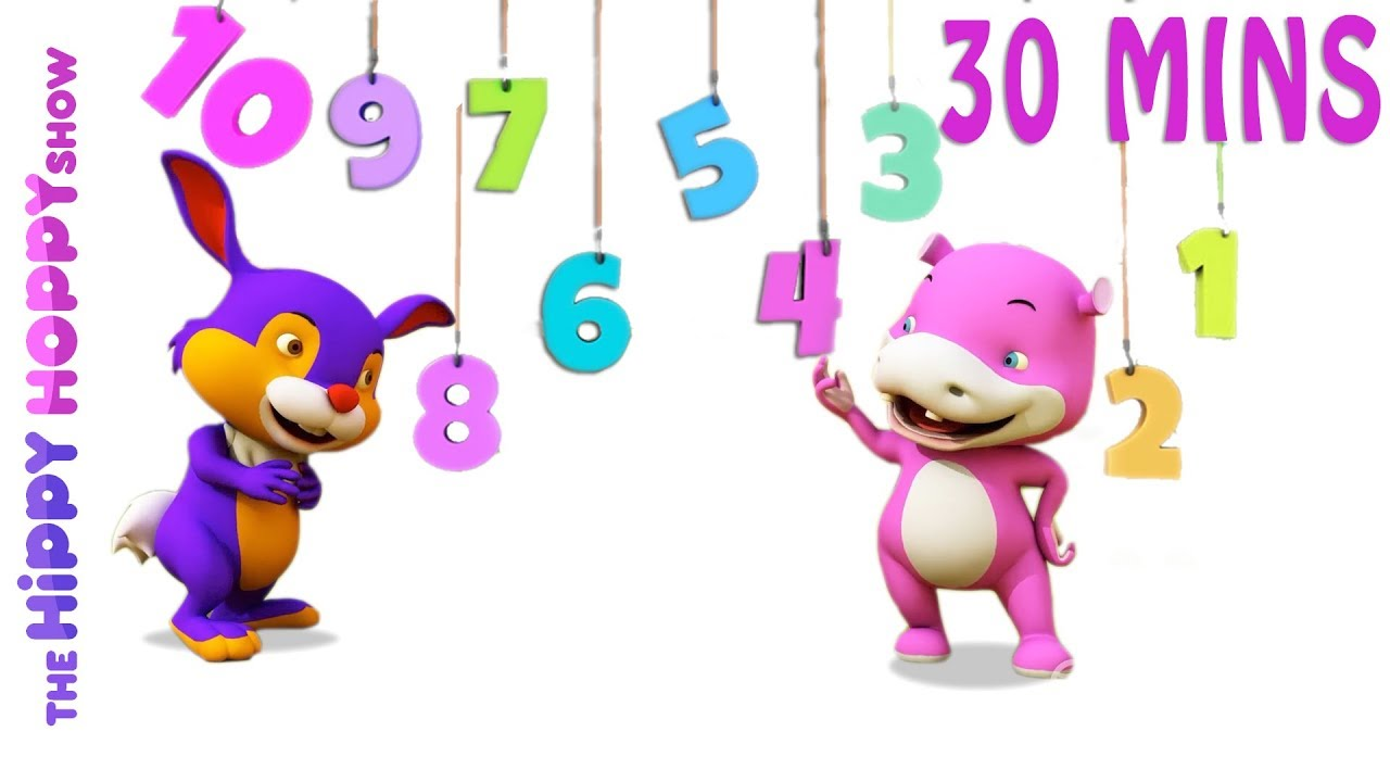 123 Number Songs | Math Learning Songs | 3D Nursery Rhymes for Kids ...