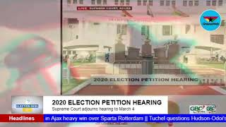 GhanaWeb TV Live: 2020 Election Petition Hearing; Monday February 22, 2021