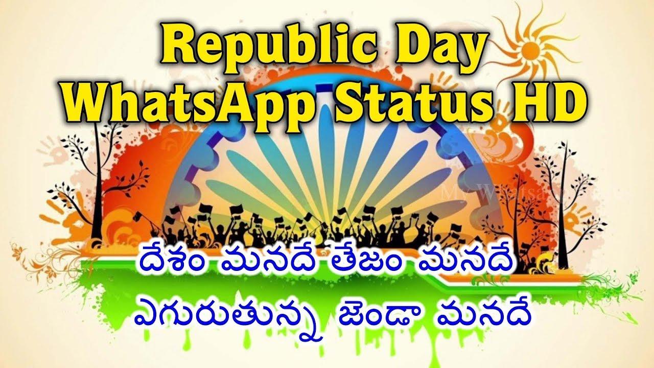 26 January 2018 Happy Republic Day Whatsapp Status Video