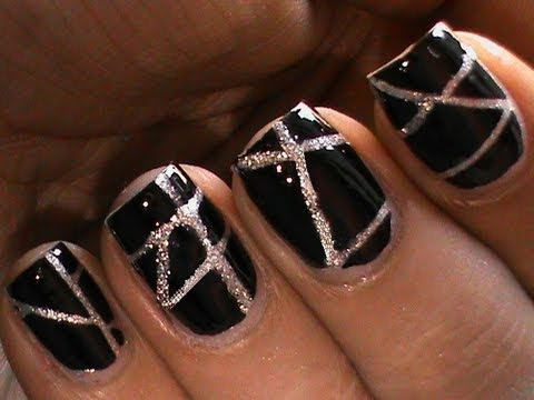 Striping Tape Nail Art Tutorial For Beginners Diy At Home Designs Striping Tape Short Long Nails