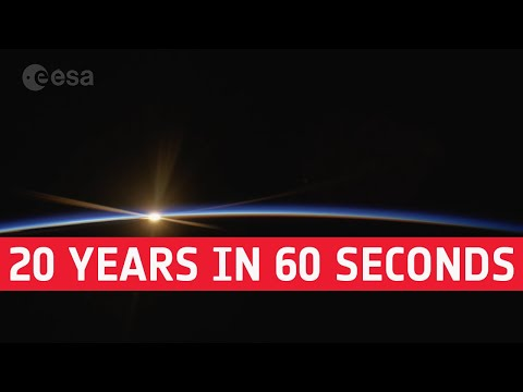 International Space Station: 20 years in 60 seconds