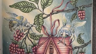 Speedcoloring By Coloringsofie - Coloringbook Smyckeskrinet By Hanna Karlzon * Bugs With Tiny House