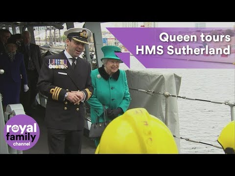 Queen tours HMS Sutherland on 20th anniversary