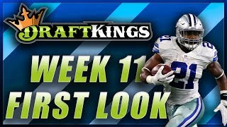 DRAFTKINGS WEEK 11 NFL FIRST LOOK LINEUP: DFS FANTASY FOOTBALL