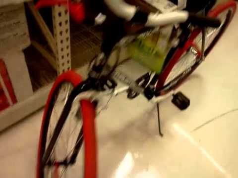 e48a44e59d7 Thruster Fixie 700c Road Bike Black Red - YouTube